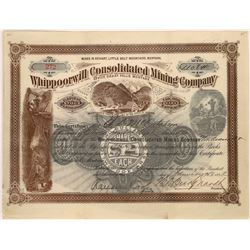 Whippoorwill Consolidated Mining Company Stock Certificate  [129612]