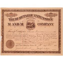 Bi-Metallic Extension M & M Company Stock Certificate  [113861]