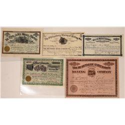 Philipsburg, Montana Mining Stock Certificate Collection  [127151]