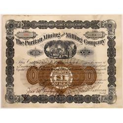 Puritan Mining & Milling Company Stock Certificate  [129575]