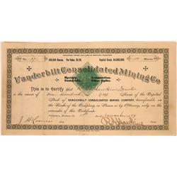 Vanderbilt Consolidated Mining Co. Stock Certificate  [129620]