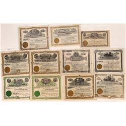Ten Saltese County Mining Stocks, Montana  [123996]