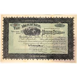 Milwaukee Mining Company Stock Certificate  [127171]
