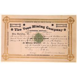 Vose Mining Company Stock Certificate  [127172]