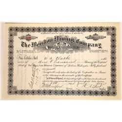 Moulton Mining Co. Stock Issued to & Signed by W.A. Clark  [129650]