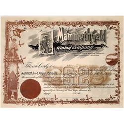 Mammoth Gold Mining Company Stock of Washoe District, Deer Lodge County, Montana  [123870]