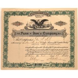 Penn Yan Company Stock Certificate  [127158]