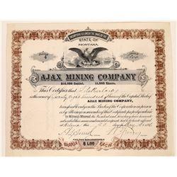 Ajax Mining Company Stock Certificate  [129601]
