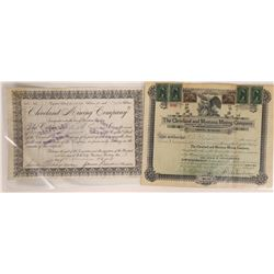 """""""Cleveland"""" Mining Companies Stock Certificate Pair  [129604]"""