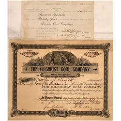 Montana Coal Mining Stock Certificate Pair  [129625]
