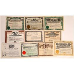 Montana Mining Stock Certificate Collection  [113984]