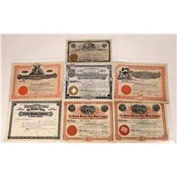 Montana Placer Mining Stock Certificate Collection  [123987]