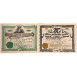 Montana Rock-related Stock Certificates  [127594]