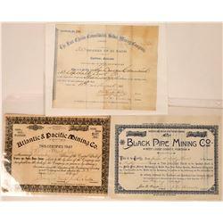 Three Different Montana Mining Stocks: Black Pine, Atlantic & Pacific, Last Chance  [127153]