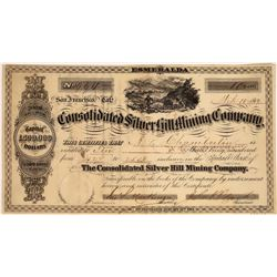 Consolidated Silver Hill Mining Company Stock Certificate  [127948]