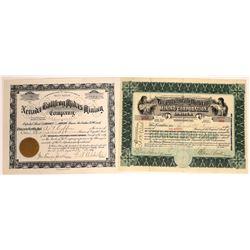Bullfrog, Nevada Mining Stock Certificate Pair  [113969]