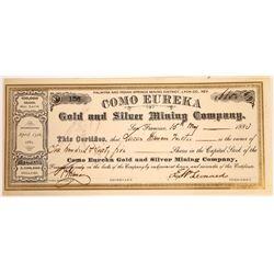 Como Eureka Gold & Silver Mining Co. Stock Certificate  [113977]