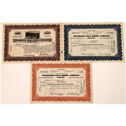 Spearhead Gold Mining Company Stock Certificates  [129859]