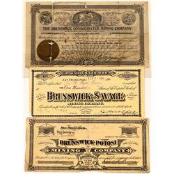 Brunswick Comstock Mining Stock Certificates  [129869]