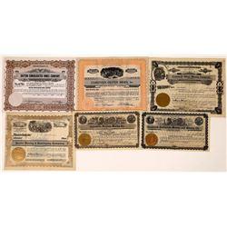 Six Comstock Mining Stock Certificates  [129857]