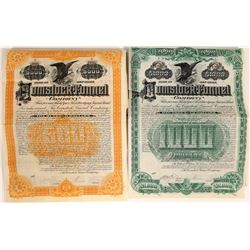 Comstock Tunnel Company Bonds Signed by Theodore Sutro  [113961]