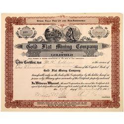 Gold Flat Mining Company Stock Certificate  [129863]