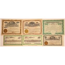 Six Different Goldfield Mining Stock Certificates  [113898]