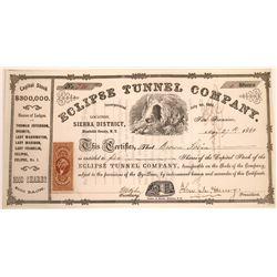 Eclipse Tunnel Company Territorial Stock Certificate  [113973]