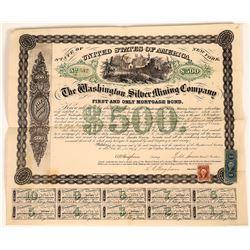 Washington Silver Mining Company Bond, Lander County, NV.- 1867  [128805]