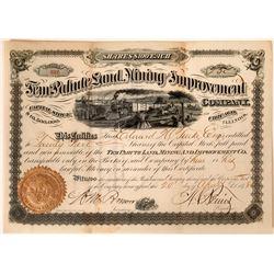 Tem Pahute Land, Mining & Improvement Co. Stock Certificate  [113912]