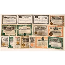 Stock Certificates from Luning, Nevada (15)  [129862]