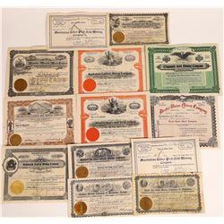 Manhattan, Nevada Mining Stock Certificate Collection  [113979]