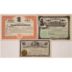 Nevada Mining Stocks, All Certificates #1  [129855]