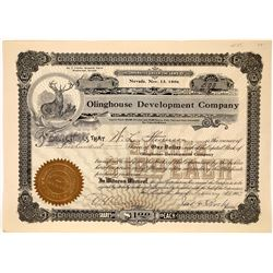 Rare Olinghouse, Nevada Stock Certificate  [127408]