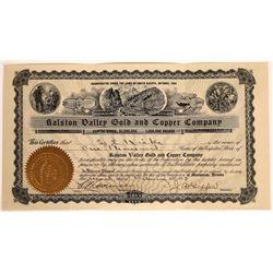 Ralston Valley Gold & Copper Company Stock Certificate  [113978]