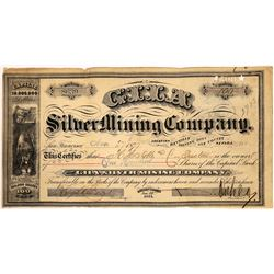 Gila Silver Mining Company Stock Certificate  [113968]