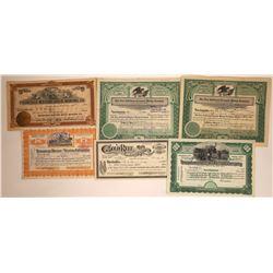 Tonopah Mining Stock Group Plus a Railroad Piece  [113899]