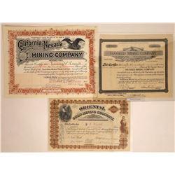 Three Mining Stocks from California-Nevada Border Area  [128789]
