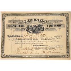 Union Phosphate Mining & Land Company Stock, New Jersey, 1885  [128879]