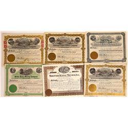 Oregon Mining Stock Certificate Group  [113985]