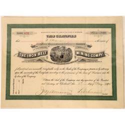 Iron Belt Mining Company Stock, Ashland, Wisconsin, 1895  [128880]
