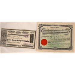 Eastern Montana Mining & Smelting Co. Stock Certificate Pair  [129610]