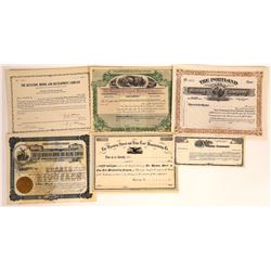 Wyoming Mining Stock Certificate Group  [113872]