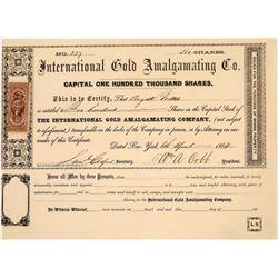 International Gold Amalgamating Company Stock  [129847]