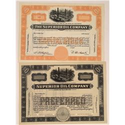 Superior Oil Co Specimens (2) by Jeffries Banknote  [128685]