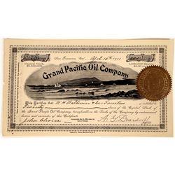 Grand Pacific Oil Company Stock, California, 1901  [128679]