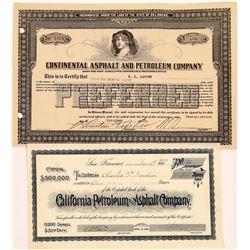 Asphalt & Petroleum Company Stock Certificates (2)  [127507]