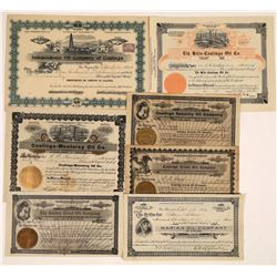 Coalinga Oil Stock Certificate Group (7)  [128673]