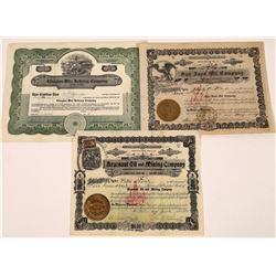 Three California Oils, All Certificates #1  [128654]