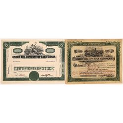 Union Oil Company of California Specimen Plus Union Oil & Gas Stock, 1901  [128668]